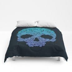 Labyrinthine Skull - Neon Comforters