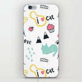 I Love Cat iPhone Skin