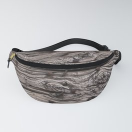 Wooden pattern with handcrafted iron nails Fanny Pack