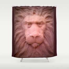 Lion clay Shower Curtain