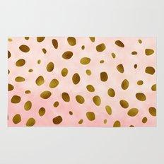 Rose Quartz With Gold Pattern Rug