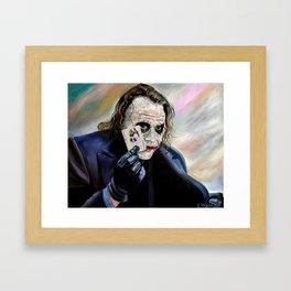 the Joker hahaha Framed Art Print