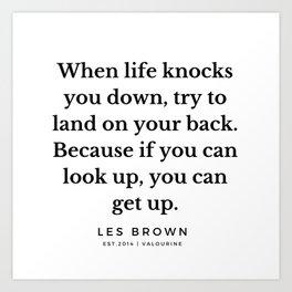 30  |  Les Brown  Quotes | 190824 Art Print