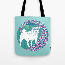 pug rainbow Tote Bag