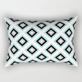 Turquoise Diamond Pattern   Winter   Mint   Art Deco   For Her   Boho   Luxury   Modern Rectangular Pillow