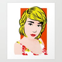 popart Art Prints featuring popart  by Biansa Naiyananont