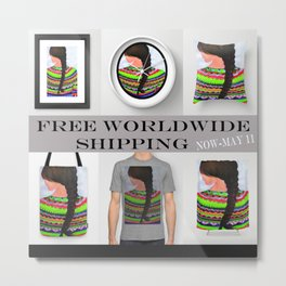 Free Shipping Promotion Metal Print