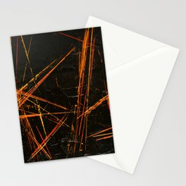 Black Sticks (Black Abstract) Stationery Cards