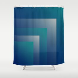 Navy teal gray Shower Curtain