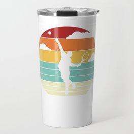 Tennis Player Retro Tennis Serve Cool Vintage Travel Mug