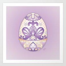 Lavender Egg Art Print