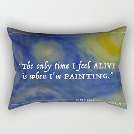 Vincent Van Gogh Painting Quote Rectangular Pillow