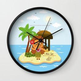Aloha Girl Wall Clock