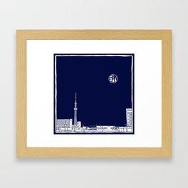 Tokyo Sky Tree by Night Framed Art Print