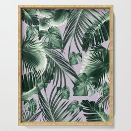 Tropical Jungle Leaves Dream #8 #tropical #decor #art #society6 Serving Tray