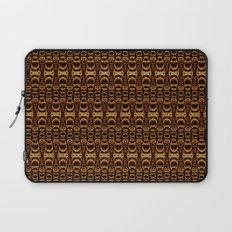 Dividers 07 in Orange Brown over Black Laptop Sleeve