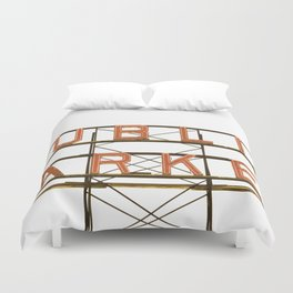Pike Place Public Farmers Market - Sunrise Duvet Cover
