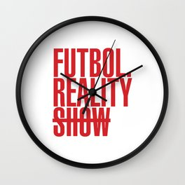 FutbolRealityShow_Red Wall Clock