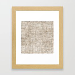 White Washed Burlap Print Framed Art Print