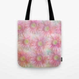 Pink daisies on a pastel background. Tote Bag