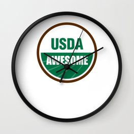 USDA AWESOME Wall Clock