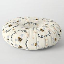 Ode to the Bumblebee (in cream) Floor Pillow