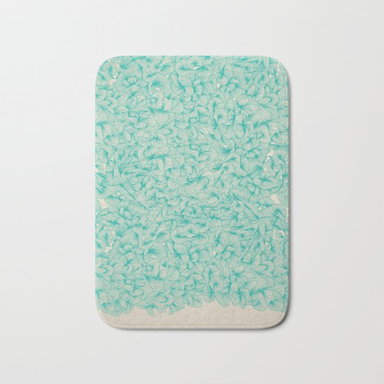 Abstract Pattern – Turquoise Bath Mat