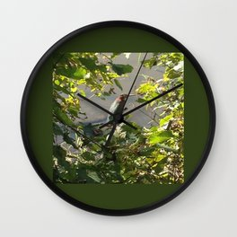 Green Heron Wall Clock