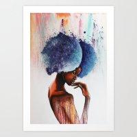 waterfall Art Prints featuring Waterfall  by Sebastian Wandl