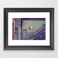 Window and Staircase Framed Art Print