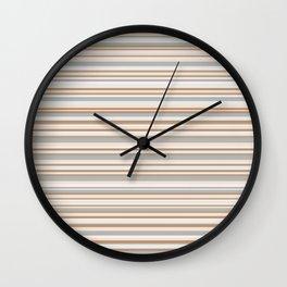 Abstract golden colors horizontal linework Wall Clock