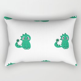 Cute Baby Dino Rectangular Pillow