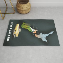 New Zealand travel poster Rug