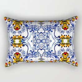 Italian tile Rectangular Pillow