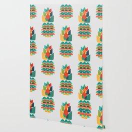 Colorful Whimsical Ananas Wallpaper