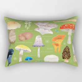 Mushroom Species Rectangular Pillow
