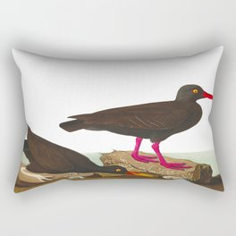 White-legged Oyster-catcher, or Slender-billed Oyster-catcher Bird Rectangular Pillow