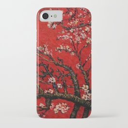 Almond Tree in Blossom - Red Motif by Vincent van Gogh iPhone Case