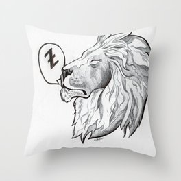 A lion around Throw Pillow