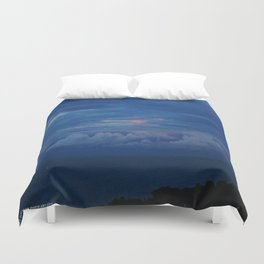 Painted Sky at Dusk (Chicago Sunrise/Sunset Collection) Duvet Cover