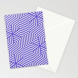 Majorelle blue - blue - Minimal Vector Seamless Pattern Stationery Cards