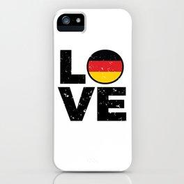 Germany Flag Shirt German Gift Idea Love iPhone Case
