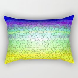 Stained Glass Abstract Rectangular Pillow