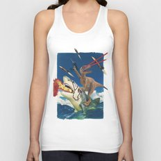 Crazy Raptor Unisex Tank Top