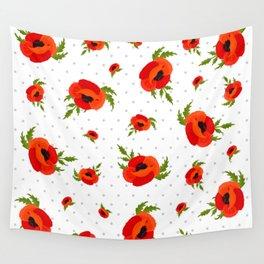 Poppy Flowers Pattern Wall Tapestry