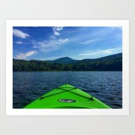 Vermont Kayaking Art Print
