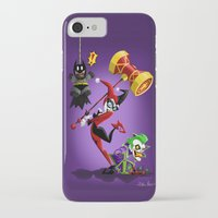harley quinn iPhone & iPod Cases featuring Harley Quinn by Eileen Marie Art