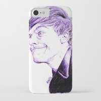 louis tomlinson iPhone & iPod Cases featuring Louis Tomlinson by Drawpassionn