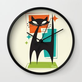 Mister Whiskers Wall Clock