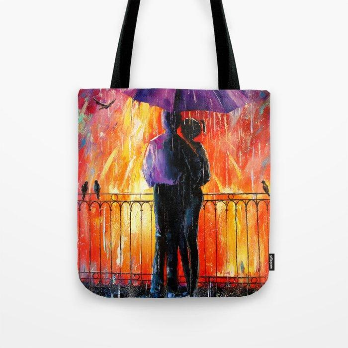 Rain for lovers Tote Bag